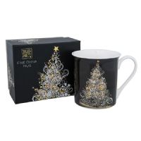 Beautiful White Tree at Christmas Foil Art Design Mug